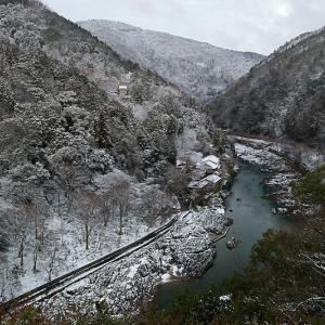 京の雪景色・夜明け前の嵯峨野 其の二