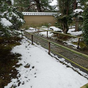 京の雪景色・大徳寺塔頭 瑞峯院