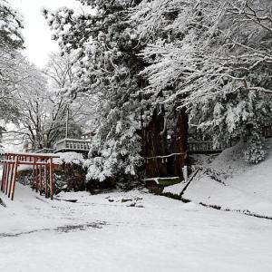 雪景色@京丹波町 導観稲荷神社