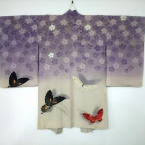 おさんぽきもの中目黒販売予定商品・桜と蝶の絵羽織