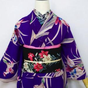菖蒲の単衣とテッポウユリの名古屋帯