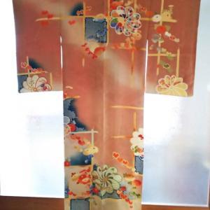 菊と蔦の刺繍入り紋綸子訪問着