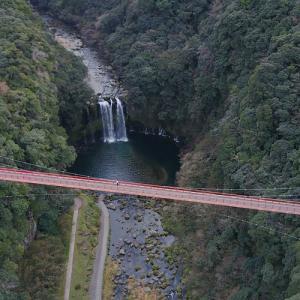 神川大滝の空撮動画