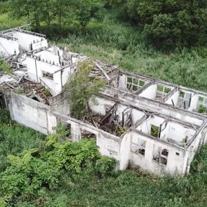 築別炭鉱遺構の空撮動画
