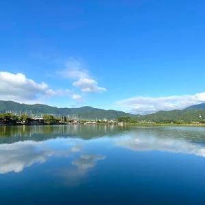 【ごんぎつねの謎】今日の広沢池は空気が澄んでいました。台風10号