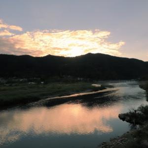 桂川の夕景