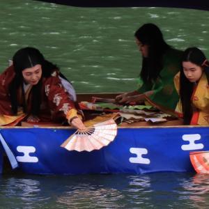 強風の三船祭 (嵐山)