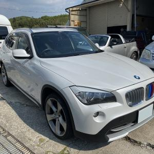 BMW★X1 ランフラットタイヤ交換です。