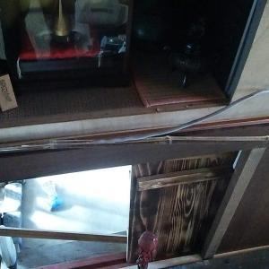 今年初の筍&黒竹モールで配線隠す茶室にじり口 他シアタールーム(番外編)
