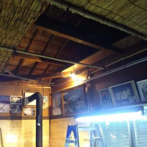 Garage BASEの天井リノベーション