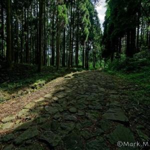 阿蘇参勤交代の石畳の道
