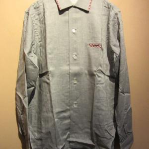 60s Deadstock シャツ/ループネック ボックスシャツ