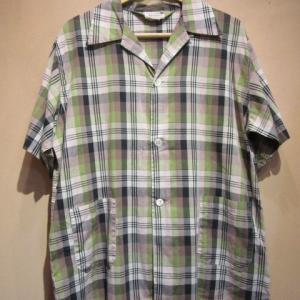 50s.60s シャツ /ボックスシャツ ループカラーシャツ