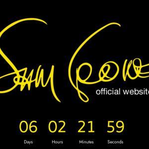 公開されたサム・クックのオフィシャルサイト