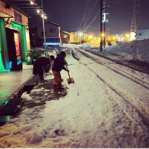 蓮の前の雪★道路状況★