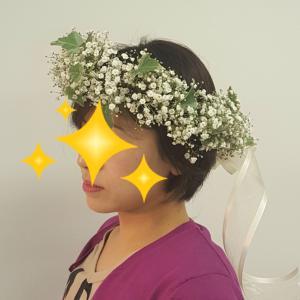カスミソウの花冠 ☆ レッスンリポ
