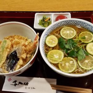 久々の一人外食ランチ☆スダチ蕎麦