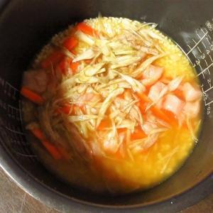 リメイク!おでんの出汁で炊き込みご飯作成!