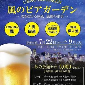 コロナ渦のビアガーデンは・・・上野精養軒@上野