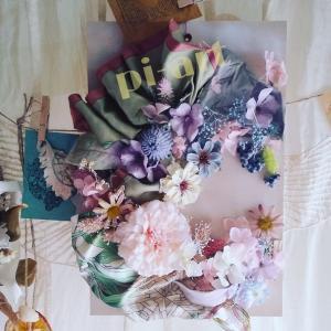 des fleurs séchées etartificielle