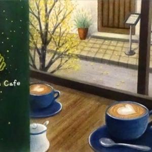 秋のカフェから(パステルアート)と11月教室日程について