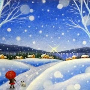 Silent snow(パステルアート)と2020年カレンダー販売予定のお知らせ