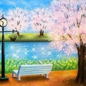 春色に輝く時間(パステルアート)と3月教室日程のお知らせ