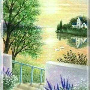 穏やかな光の中で(パステルアート)とソフトパステル24色モチーフ販売のお知らせ