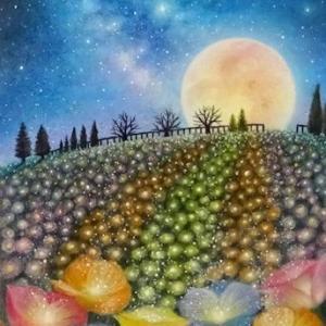 光の花と祈り(パステルアート)と今後の教室について