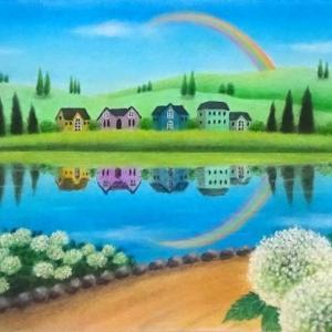 雨上がりの空に(パステルアート)とインスタグラム開始のお知らせ