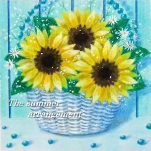 The summer arrangement(パステルアート)とソフトパステル24色モチーフ販売のお知らせ