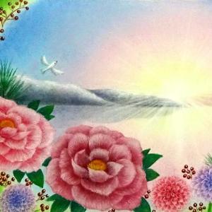 初春の輝き(パステルアート)