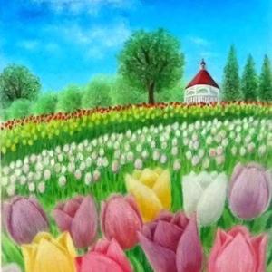 巡り来る春の日に(パステルアート)と2月教室日程のお知らせ