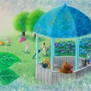 雨が上がったら(パステルアート)とソフトパステル24色モチーフ販売のお知らせ
