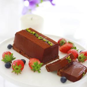 金塊のようなチョコレートケーキ