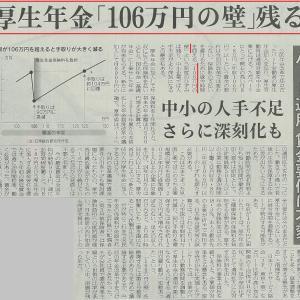 """厚生年金「106万円の壁」残る""""(-""""""""-)"""""""