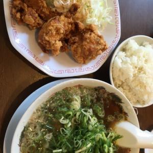 鶏のから揚げ定食(#^.^#)