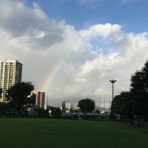 今朝の虹(#^.^#)