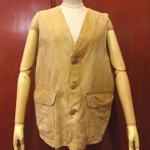 1950's State O Maine Smoking Jacket, 1970's Champion Bartag Football T-shirt size M, 1950's SEARS Hunting Vest,,,