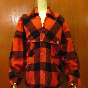 1940's SPORTCLAD Buffalo Plaid Double Mackinaw Jacket, 1950's PORTERS Plaid Wool Ricky Jacket, 1840's Flower Patterned Cotton Rug,,,