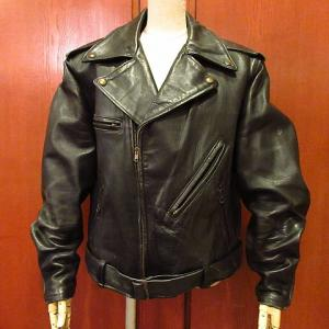 1950's-1960's Leather Motorcycle Jacket, 1940's U.S.NAVY Rain Parka, 1970's GUNNE SAX Lace & See Through Dress,,,