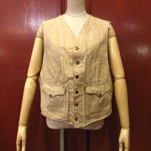 1940's FILSON Duck Hunting Vest, 1940's-1950's Cotton Chambray Shirt, 1940's HART SCHAFFNER & MARX Striped 3B Tailored Jacket,,,
