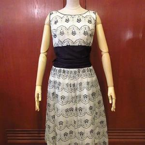 1950's Flower Patterned See Through Dress, 1960's DEADSTOCK U.S.ARMY Fatigue Jacket 3rd, 1940's-1950's PAY DAY Hickory Striped Overalls,,,
