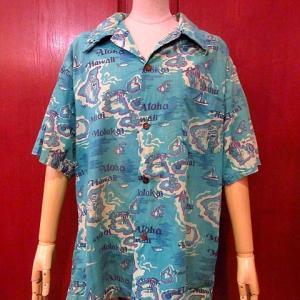 1940's~1950's Rayon Hawaiian Shirt,1950's Plaid Cotton S/S Shirt,1940's Stencil Military Duffle Bag,,,