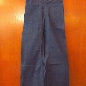1960's DEADSTOCK U.S.NAVY Denim sailor pants W78cm, 1990's PEARL JAM Freak-Swallow Concert tour T-shirt size XL, 1970's Military GERMANY corduroy souvenir jacket black...