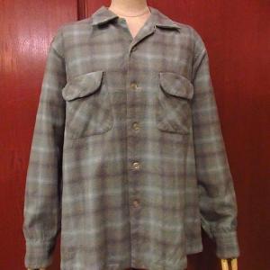 1950's SETH THOMAS GRANDEUR MODEL E621-000 Sunburst Wall Clock, 1970's North Beach Leather Whip Stitch Deerskin Jacket size LG, 1950's PENDLETON Wool Shadow Check Loop Collar Shirt Size L,,,