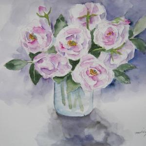 庭のつるバラ