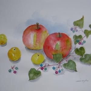 リンゴとノブドウ