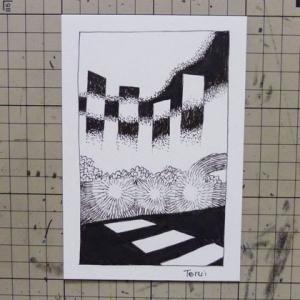 本日のシュール015(ペン画イラスト)