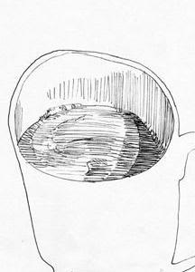 コップのじかん05(ミリペン画)